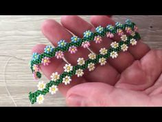 Peyote Tekniğiyle Zarif Çiçekli Bileklik Yapımı - YouTube Diy Jewelry, Beaded Jewelry, Jewelry Making, Beading Tutorials, Beading Patterns, Beaded Bracelets Tutorial, Diy Crafts Hacks, Bracelet Crafts, Bijoux Diy