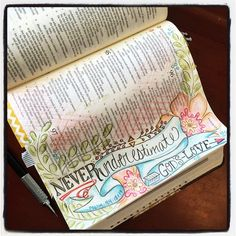 Illuminated Bible journaling/art