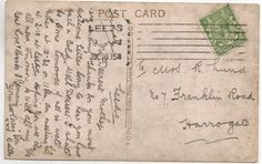 Postcard 1915 Harrogate