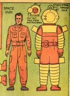 Space man paper doll