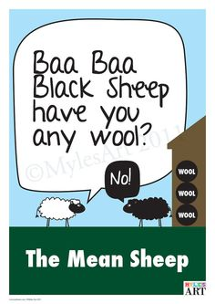 The Mean Sheep by MylesArtprints on Etsy, £7.99