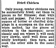 """Published in the Lexington Herald (Lexington, Kentucky), 22 August 1922, page 11. Read more on the GenealogyBank blog: """"Our Ancestors' Summer Picnics & Recipes."""" https://blog.genealogybank.com/our-ancestors-summer-picnics-recipes.html"""