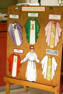 liturgical colors...love this vestments idea!
