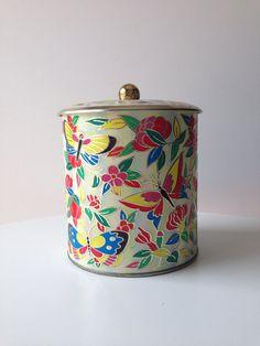 Vintage Butterfly English Tea Tin on Etsy, $24.00