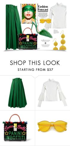 """Untitled #1191"" by sugarmoonmama ❤ liked on Polyvore featuring Rochas, Dolce&Gabbana and Kenneth Jay Lane"