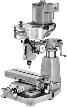 Rusnok Milling Machines and Attachments - pictures and descriptions Metal Working Tools, Old Tools, Benchtop Milling Machine, Metal Mill, Skill Tools, Machinist Tools, Maker Shop, Homemade Tools, Vintage Tools