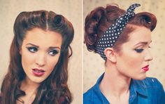 Retro Pin-up Style Hair Tutorials by The Freckled Fox! #pinitupwithlulu