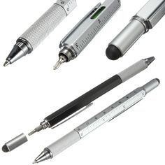 1 PC New Arrival Tool Ballpoint Pen Screwdriver Ruler Spirit Level With A  Top And Scale
