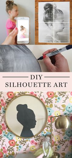 DIY large silhouette art - this is so cute!