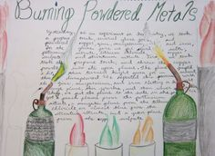 Burning Powdered Metals Lab Waldorf Lesson book from City of Lakes Waldorf School in Minneapolis.
