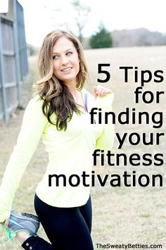 5 tips for finding your fitness motivation!