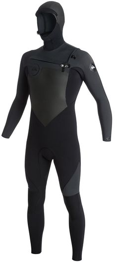 Quiksilver Wetsuit Men's 5/4/3mm Hooded Syncro The HOODED 5/4/3mm Men's Quiksilver Syncro offers superior flexibility and warmth at an unbelievable price! The suit used 100% super stretch neoprene called FN Lite - as the name suggests, it is a light...