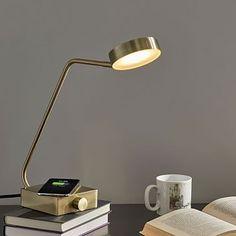 Industrial Metal LED Wireless Charging & USB Task Lamp
