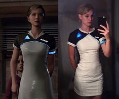 Detroit Become Human Kara cosplay Cosplay Costumes, Halloween Costumes, Cosplay Ideas, Costume Ideas, Amazing Cosplay, Best Cosplay, Tv Head, Quantic Dream, Winter Sweater Outfits