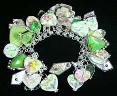 Favorite broken china made into a braclet.