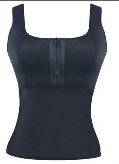03ed12589 Chicastic Latex Neoprene Sports Waist Trainer Vest - Double Support Black  Large