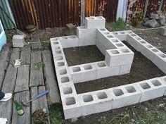 concrete blocks raised bed