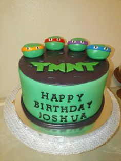 Ninja turtles manhole cover cake topper by TheBakingBrunettes