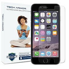 $7.49 iPhone 6 (47 inch ONLY) HD Clear Ballistic Glass Screen Protector Tech Armor Apple iPhone 6 Premium HD Clear Ballistic Glass Screen Protector - Protect Your Screen from Scratches and Drops - Maximize Your Resale Value - 9999 Clarity and Touchscreen Accuracy