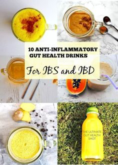 10 Anti-Inflammatory, Gut Health Drinks This post is full of anti-inflammatory smoothies and juices. All drinks are gut health drinks' perfect for leaky gut, ibs and ibd. There are plenty of ibs smoothie recipes and ibd smoothie recipes. Detox Diet Drinks, Detox Juice Recipes, Natural Detox Drinks, Healthy Drinks, Smoothie Recipes, Detox Juices, Juice Cleanse, Cleanse Recipes, Cleanse Detox