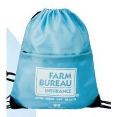 Drawstring Bag w/ Front Pocket