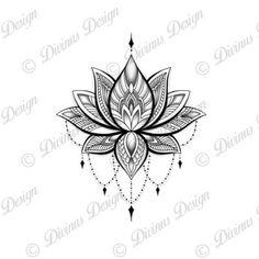 Lotus Henna, Lotus Mandala Tattoo, Mandala Tattoo Shoulder, Lotus Flower Mandala, Mandala Tattoo Design, Henna Tattoo Designs, Flower Tattoo Designs, Lotus Mandala Design, Tribal Lotus Tattoo