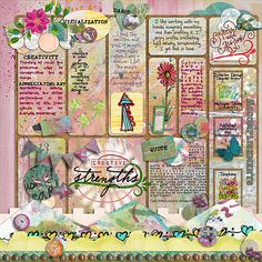 Creative Strengths by Julie Ann Shahin, from Tangie Baxter's blog