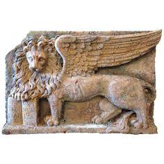 Marble Lion Plaque c. 1920 HEIGHT:29 in. (74 cm) WIDTH:41.5 in. (105 cm) DEPTH:5.5 in. (14 cm)