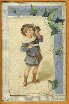 Illustrated by Dorothy Travers Pope. Original art work for postcard.