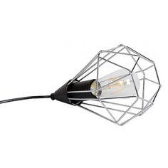 Designserka lampa stołowa Cecilia z klatką