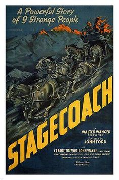 STAGECOACH by John Ford 1939 MOVIE POSTER john wayne 24X36 NEW classic rare