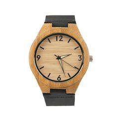 sportliche unisex Uhr in Holz mit rustikalem von pinkmagnolia2303