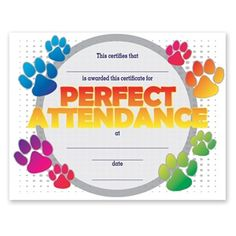 Perfect attendance award attendance classroom freebies and my high school goal is to never missed school and keep a straight perfect attendance for yadclub Gallery