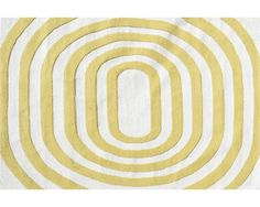 Mod Yellow Area Rug 8 x 10 - such a fun bright pattern!