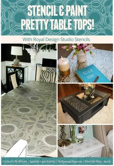 Stencil and Paint Table Tops Using Stencils | Royal Design Studio