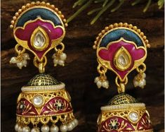 High Quality Collection of Handmade & Designer Jewelry by Avismaya 1 Gram Gold Jewellery, Thread Jewellery, Temple Jewellery, Bohemian Jewelry, Indian Jewelry, Beaded Jewelry, Handmade Jewelry, Nose Pin Indian, Designer Jewelry