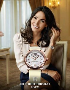 "Inès Sastre, Spanish born model and UNICEF representative, is Frederique Constant's new ""Female Charity Ambassador""."
