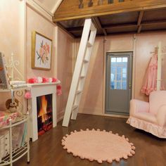 Plans to Build a Playhouse Inside Playhouse, Playhouse Decor, Playhouse Interior, Girls Playhouse, Backyard Playhouse, Build A Playhouse, Wooden Playhouse, Playhouse Ideas, Playhouse Furniture
