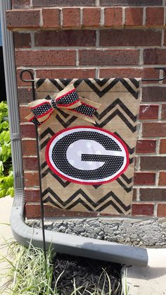 University of Georgia Burlap Garden Flag by RKCreativeDesign, $18.00