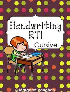 Handwriting RTI - Cursive