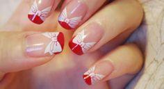 Beautiful holiday nails (using Konad nail stamp designs)