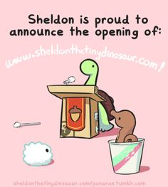 Sheldon is proud to announce the opening of: www.sheldonthetinydinosaur.com!