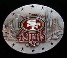 San Francisco 49er's Belt Buckle Limited Edition Collectible New from $14.99 49ers Fans, Nfl Fans, San Francisco 49ers, Belt Buckles, Ebay, Amazon, Board, Style, Swag