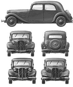 Citroen Traction Avant 'French car as a German staff car, 1941 Classic Trucks, Classic Cars, Psa Peugeot, Art Deco Car, Automobile, Traction Avant, Citroen Traction, Citroen Car, Pt Cruiser