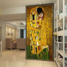 The Kiss Mural Gustav Klimt Oil Painting Custom photo wallpaper waterproof Wallpaper Classic Art Bedroom Study Kid Room decor Gustav Klimt, Klimt Art, More Wallpaper, Photo Wallpaper, Foto 3d, How To Feng Shui Your Home, Cultural Architecture, 3d Photo, Dream Wall
