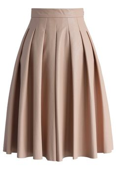 Textured Pleated Faux Leather Skirt in Pink - Skirt - Bottoms - Retro, Indie and Unique Fashion Modest Fashion, Unique Fashion, Fashion Dresses, Womens Fashion, Led Dress, Dress Skirt, Pink Pleated Skirt, Faux Leather Skirt, Skirt Outfits