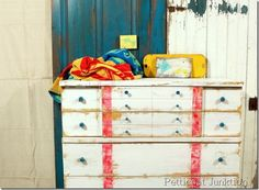 nautical-chest-painte-makeover-before-after, Petticoat Junktion