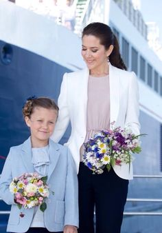 Princess Mary with her daughter Isabella