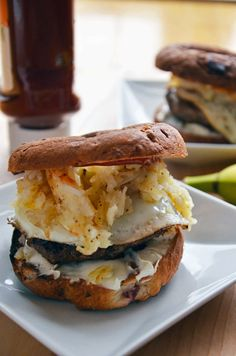 Now this is a serious breakfast sandwich! It's the Gluten Free Weekender Breakfast Sandwich by Reel Flavor