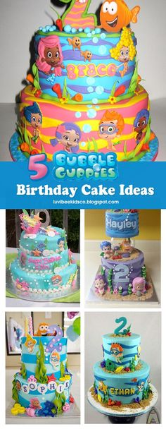 Bubble Guppies birthday cake ideas and party printables | Bubble ...